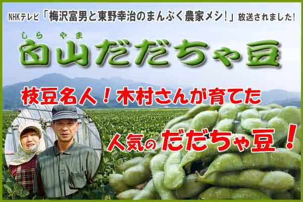 木村さんの白山だだちゃ豆 1.8Kg