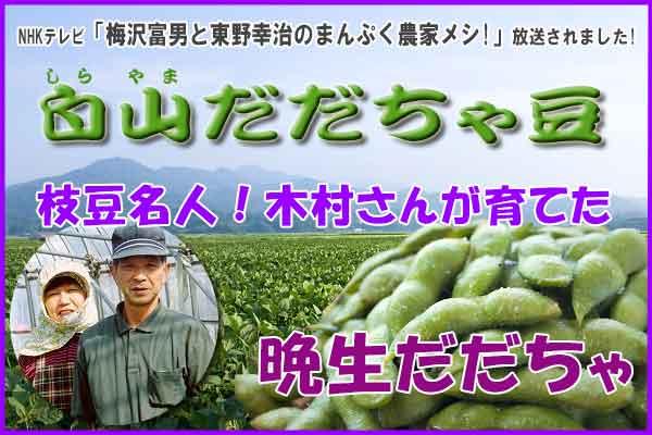 木村さんの晩生だだちゃ豆 1.8Kg