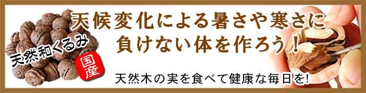 和胡桃を食べて健康な体作り