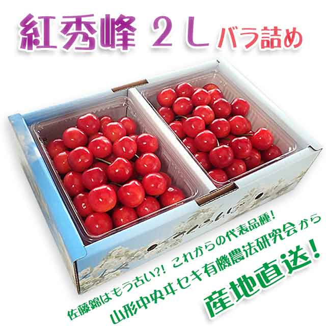 【秀】 紅秀峰 2Lサイズ (1Kgバラ詰) クール便