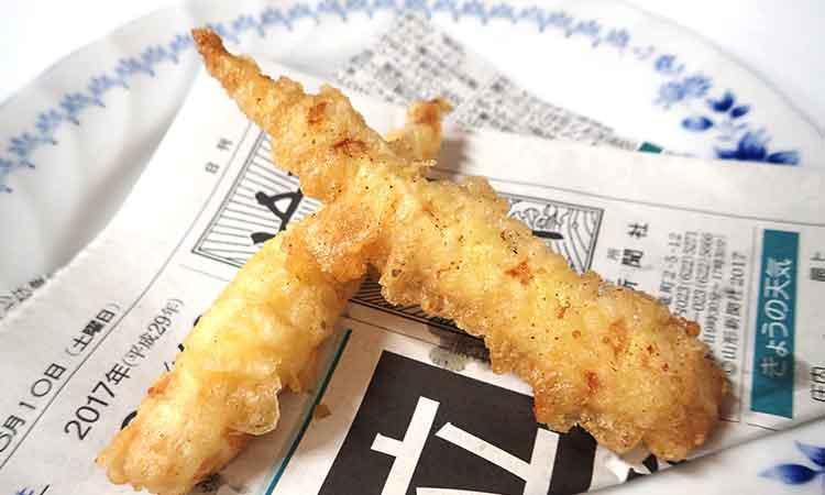 月山筍の天ぷら料理